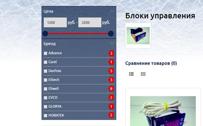 Фильтрация каталога